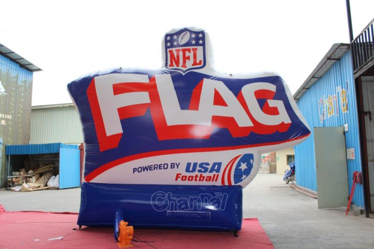 flag football inflatable branding for advertising