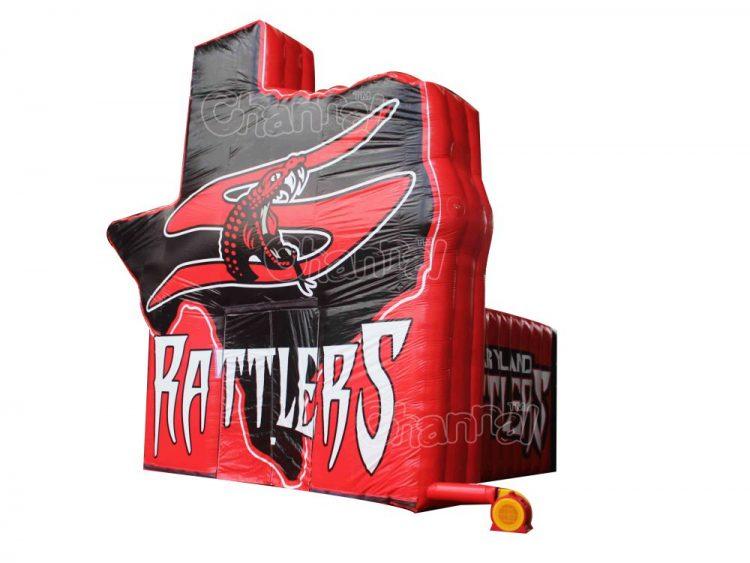 rattler inflatable football tunnel
