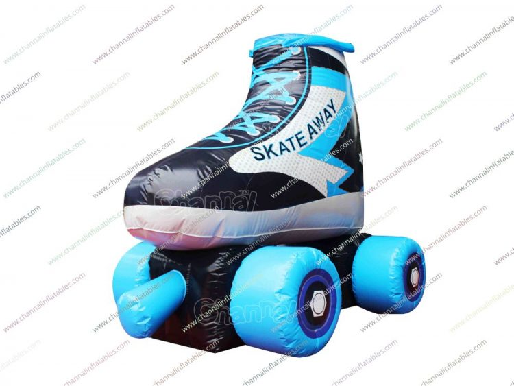 large inflatable roller skating shoe