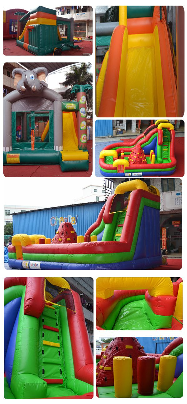 inflatable obstacle courses bought by panama customer