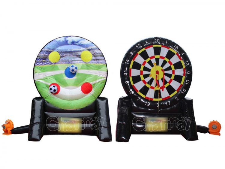 2 in 1 inflatable dart board