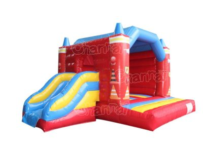 fire truck bouncer with slide