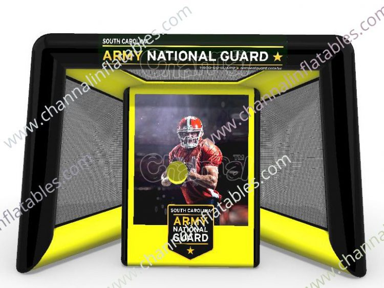 army national guard inflatable football toss game