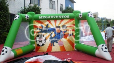 inflatable soccer gate guarding game