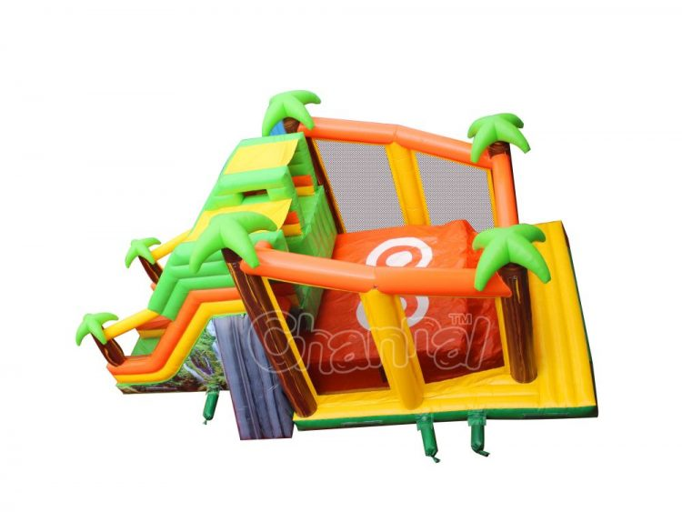 jungle cliff jump inflatable jump off