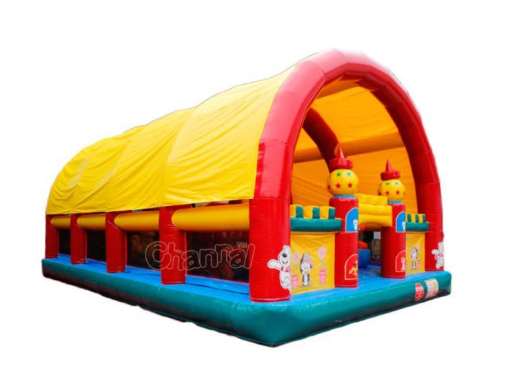 inflatable funcity with tent