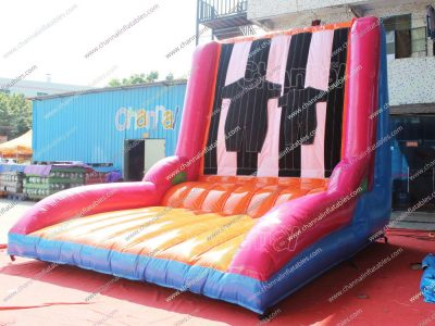 inflatable velcro jumping wall game for sale