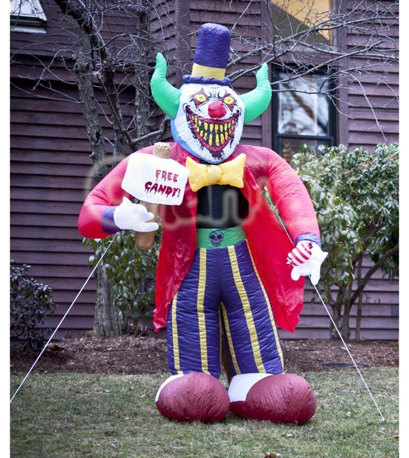Inflatable Creepy Clown - Channal Inflatables |Halloween Clown Inflatables