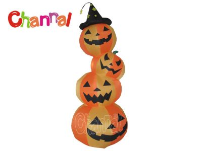 led lights inflatable pumpkin stack for Halloween decoration
