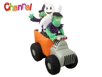 inflatable truck with Halloween characters for Halloween yard decoration