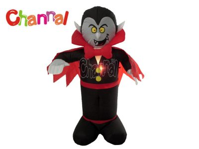 inflatable vampire Halloween decoration with lights for yard