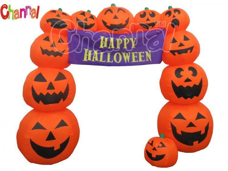 Halloween inflatable pumpkin archway