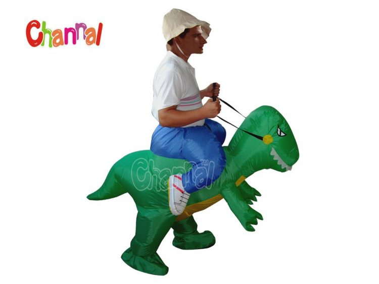 inflatable walking dinosaur costume for dinosaur riding