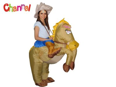 funny inflatable horse costume for Halloween party