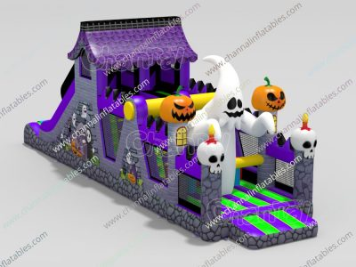 Halloween ghost inflatable obstacle course