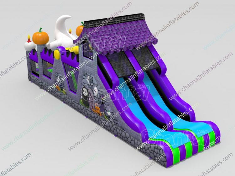 ghost obstacle course with dual slide