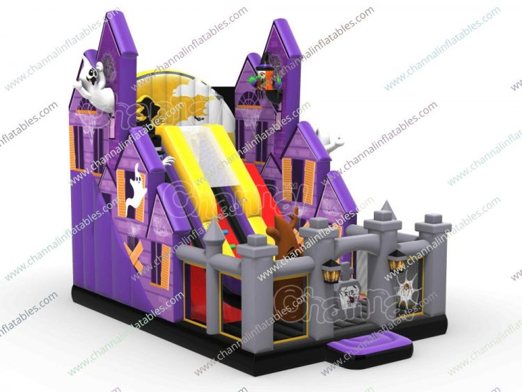 witch house inflatable slide