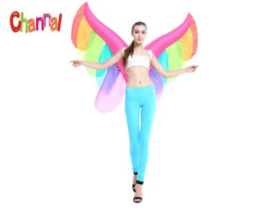 rainbow inflatable butterfly wings costume
