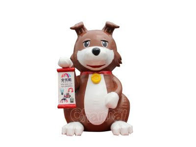giant sitting dog inflatable for advertising
