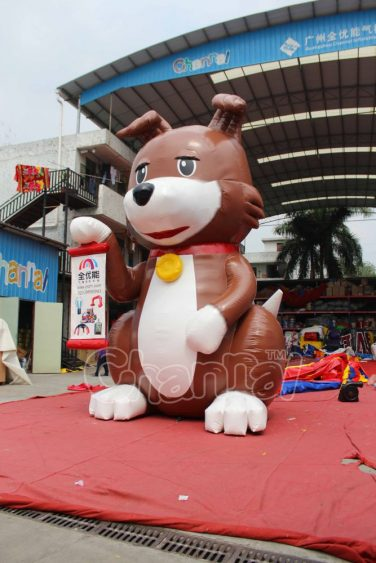 large advertising inflatable dog