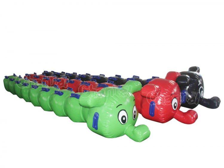 caterpillar inflatable banana towable tubes