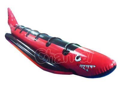 red shark towable inflatable banana boat for sale
