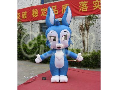 inflatable blue bunny costume