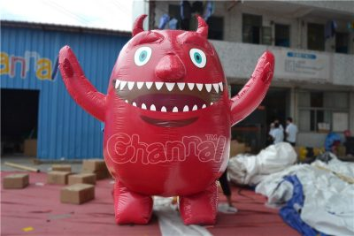 red monster inflatable costume