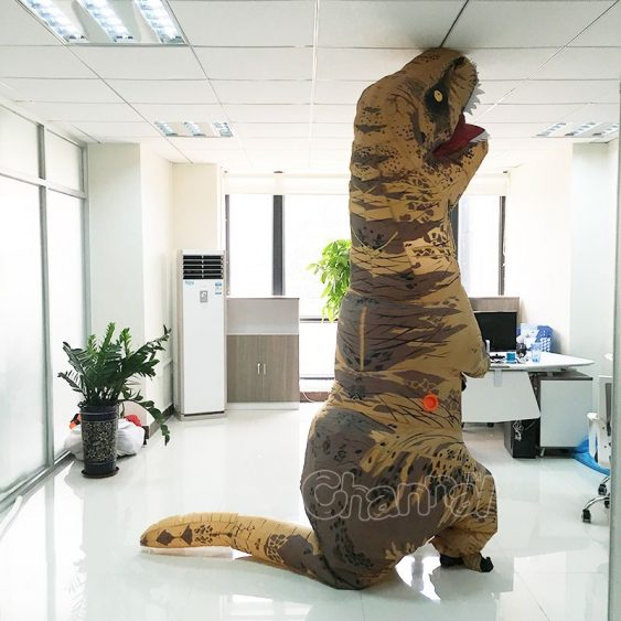 life size inflatable trex dinosaur costume for Halloween