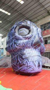 giant inflatable skull