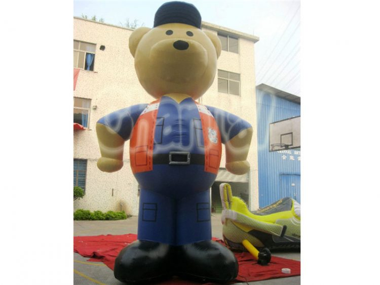 inflatable bear worker for company and business