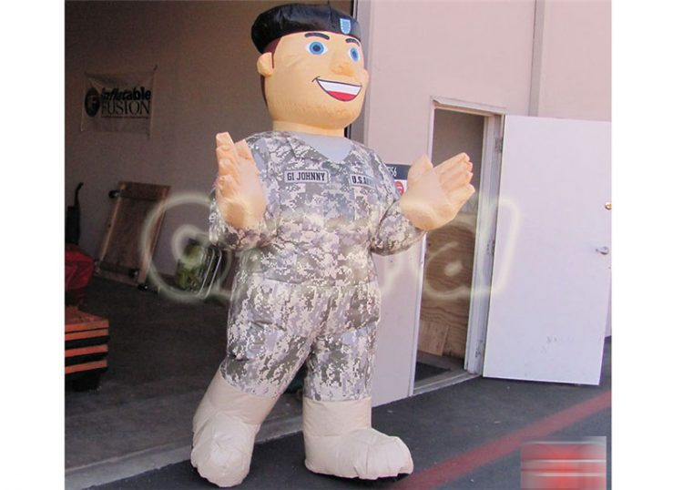 life size inflatable soldier gi johnny