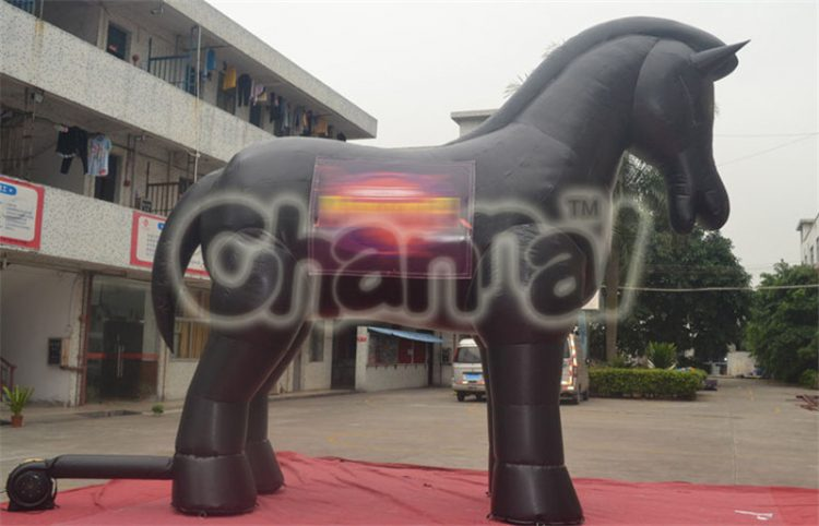 black giant inflatable horse for advertising decoration