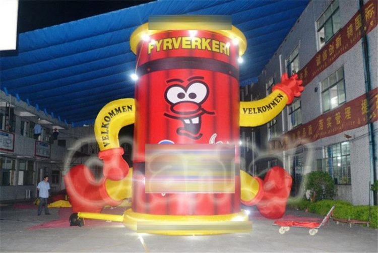 large inflatable firework for advertising