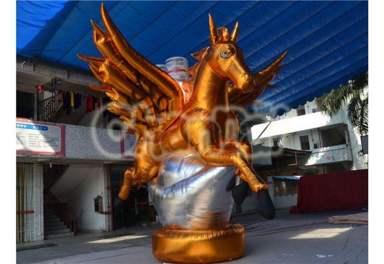 golden inflatable Pegasus horse decoration