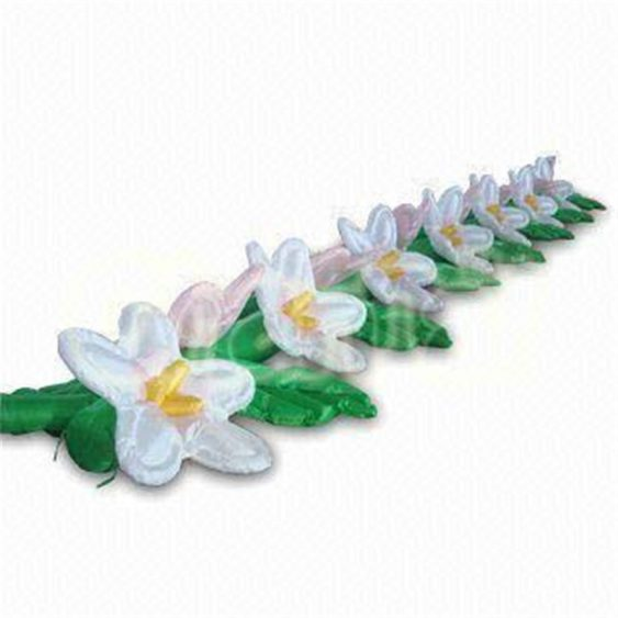 white led lights inflatable flower alley