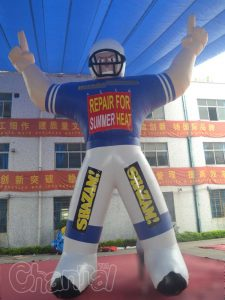 giant inflatable ameriacan football player