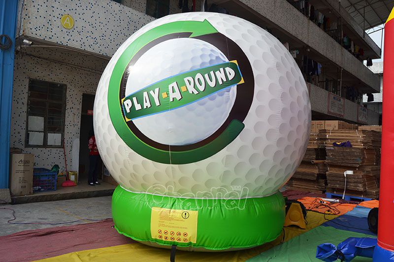 Large Inflatable Golf Ball Channal Inflatables