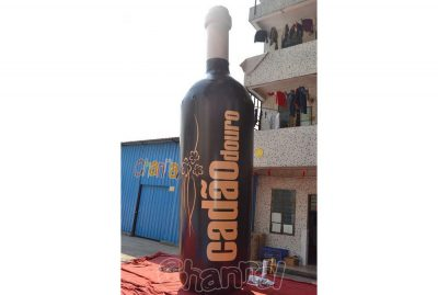 giant advertising inflatable wine bottle