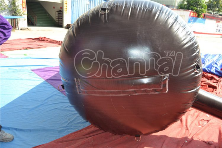 bottom of inflatable wine bottle