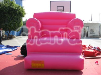 pink inflatable sofa chair