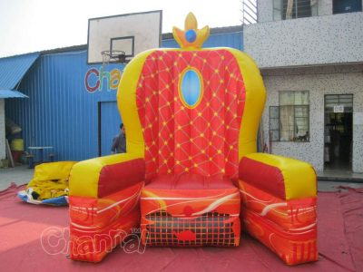 inflatable king's throne for kid's brithday