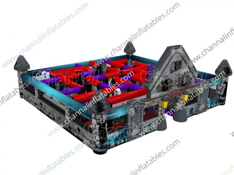 inflatable Halloween zombie maze