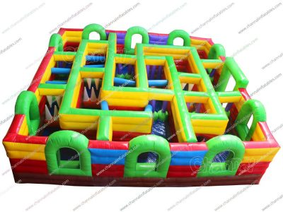 inflatable obstacle maze for sale