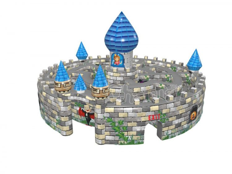 Halloween inflatable haunted castle maze for sale
