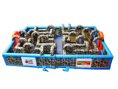 nerf war inflatable maze arena