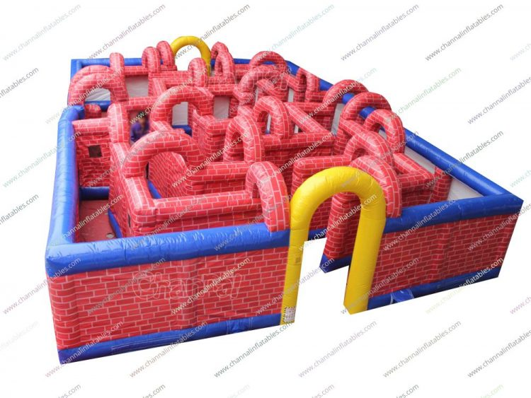 inflatable brick maze