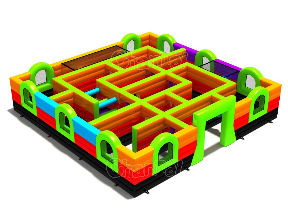 Inflatable Obstacle Maze Channal Inflatables