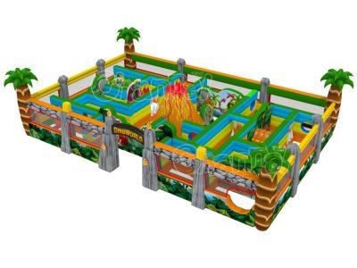 dinosaur inflatable maze