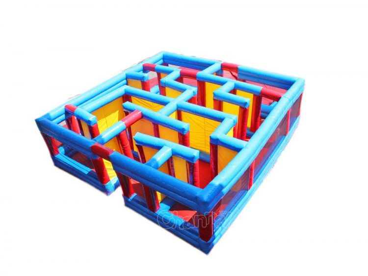small inflatable maze for little kids